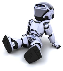 robot sitting down